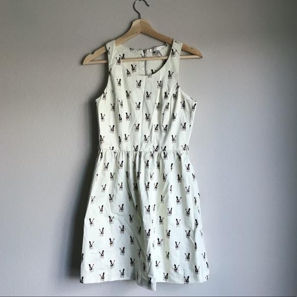 ec00e6afb2f8c Anthropologie Dresses | French Bulldog Dress | Poshmark